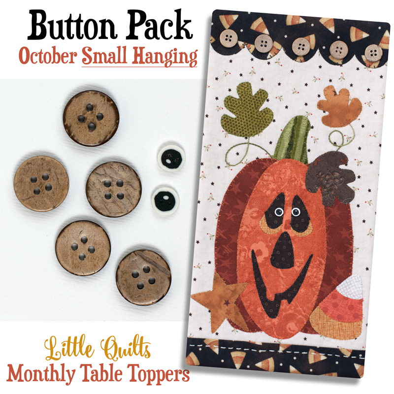 (JABC-BT10)   Button Pack October SMALL HANGING