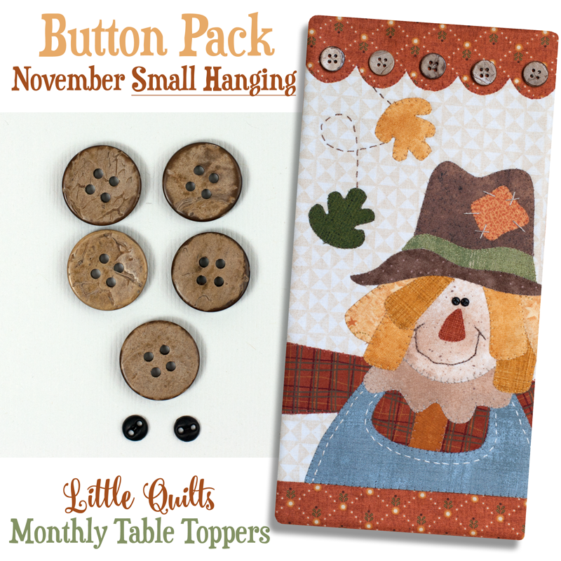 (JABC-BT11)   Button Pack November SMALL HANGING