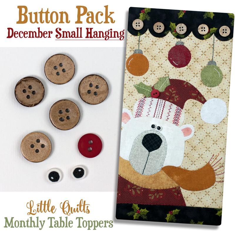 (JABC-BT12)   Button Pack December SMALL HANGING