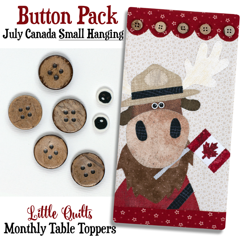 (JABC-BT13)   Button Pack July Canada SMALL HANGING