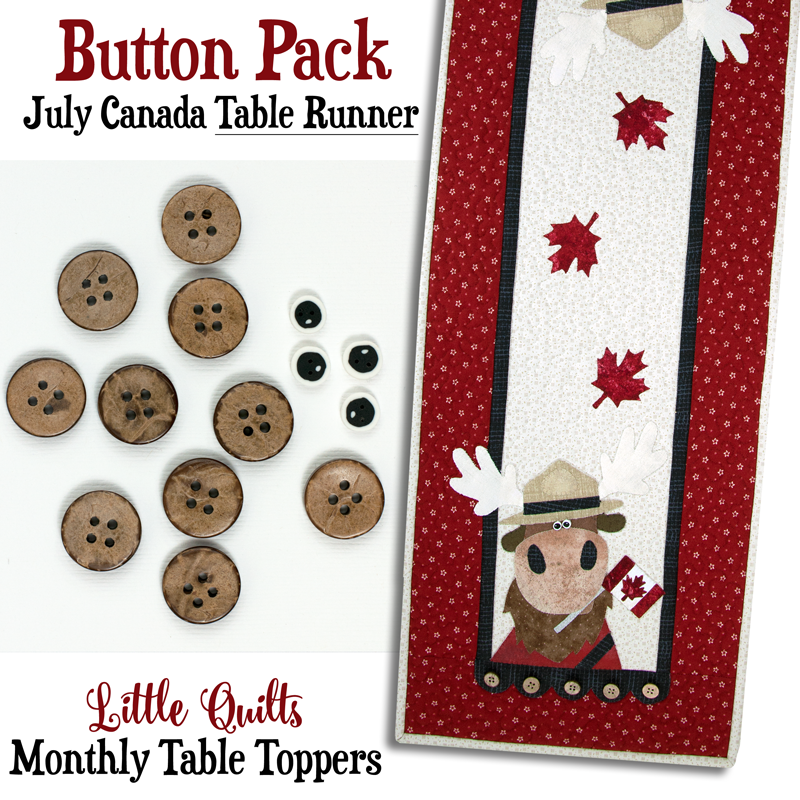 (JABC-BT13-2)   T13 Button Pack July Canada TABLE RUNNER