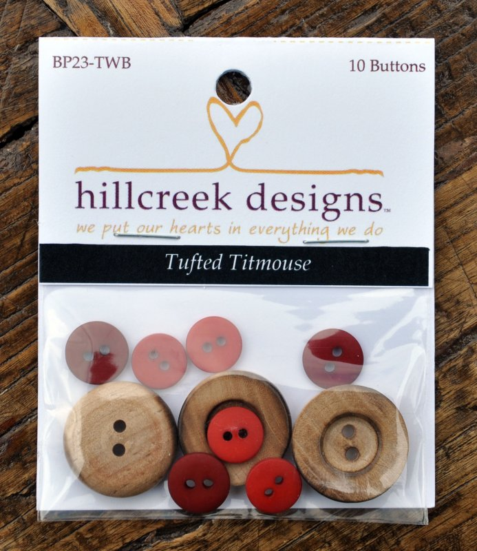 (HCD-BP23TWB)   Tufted Titmouse Patternlet Button Pack