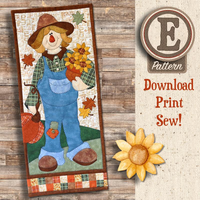 (TWB-EBanner)   E-pattern Scarecrow Banner