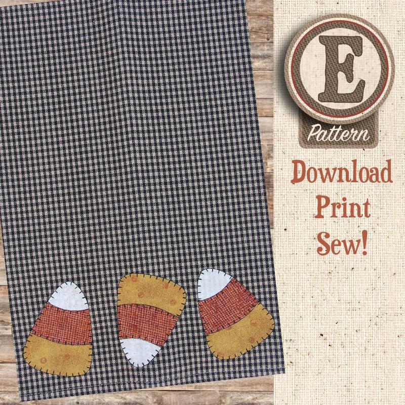 (TWB-EP08)   E-pattern P08 Candy Corn Patternlet