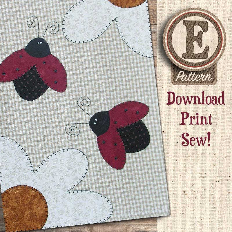 (TWB-EP13)   E-pattern P13 Ladybugs Patternlet