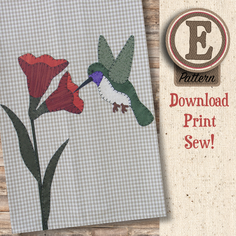(TWB-EP15)   E-pattern P15 Hummingbird Patternlet