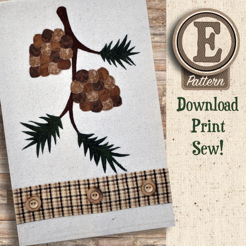 (TWB-EP21)   E-pattern P21 Pinecone Patternlet