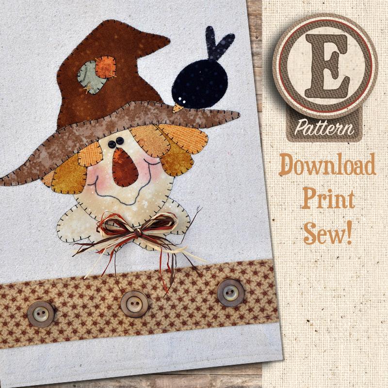 (TWB-EP25)   E-pattern P25 Happy Scarecrow Patternlet