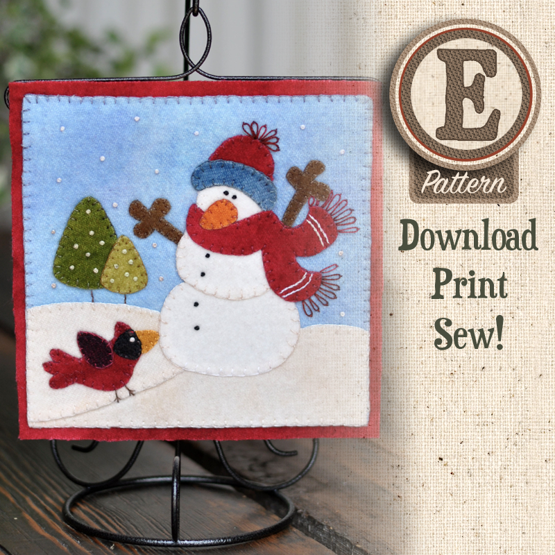 (TWB-EW01)   E-pattern W01 January Snowman