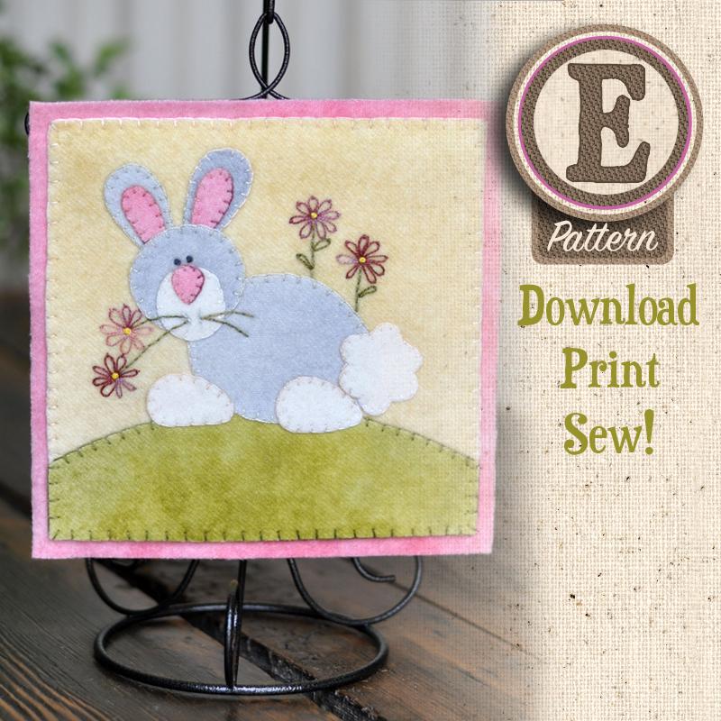 (TWB-EW04)   E-pattern W04 April Cottontail