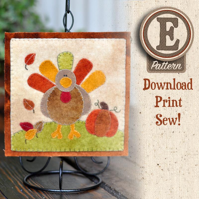 (TWB-EW11)   E-pattern W11 November Turkey and Pumpkin