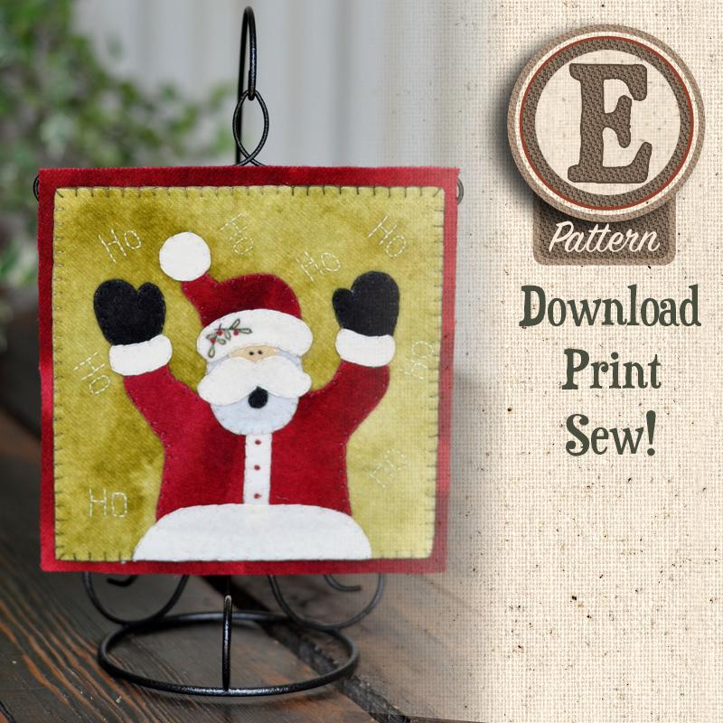 (TWB-EW12)   E-pattern W12 December Jolly Santa