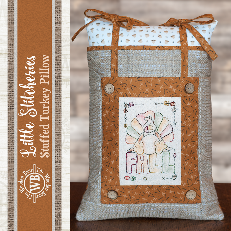 (TWBF01)   Little Stitcheries Stuffed Turkey Pillow