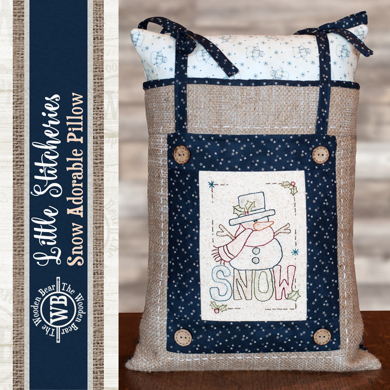 (TWBF02)   Little Stitcheries Snow Adorable Pillow