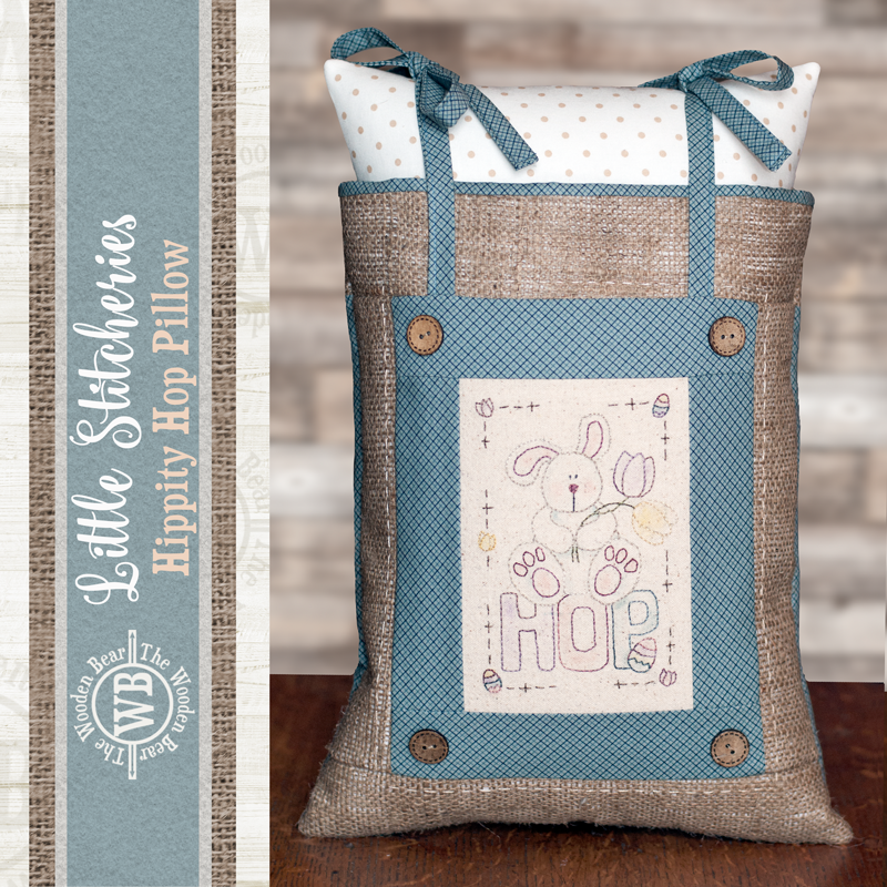 (TWBF03)   Little Stitcheries Hippity Hop Pillow