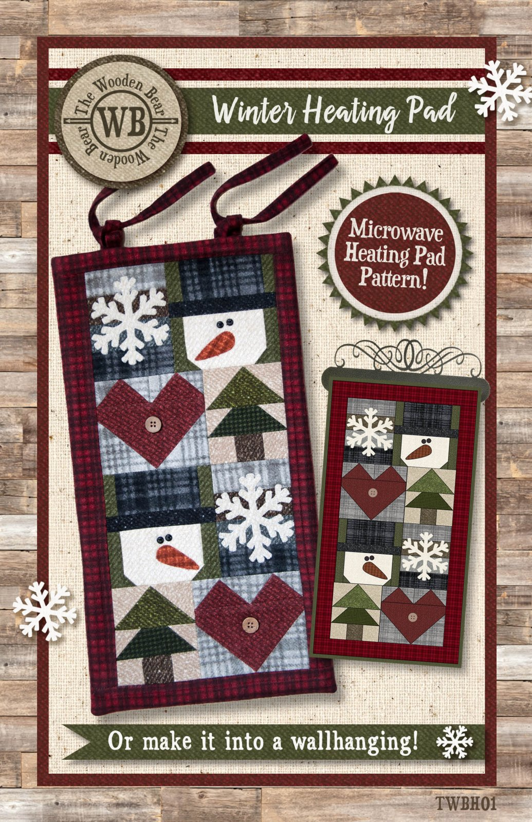 (TWBH01)  Winter Heating Pad or Wallhanging Pattern