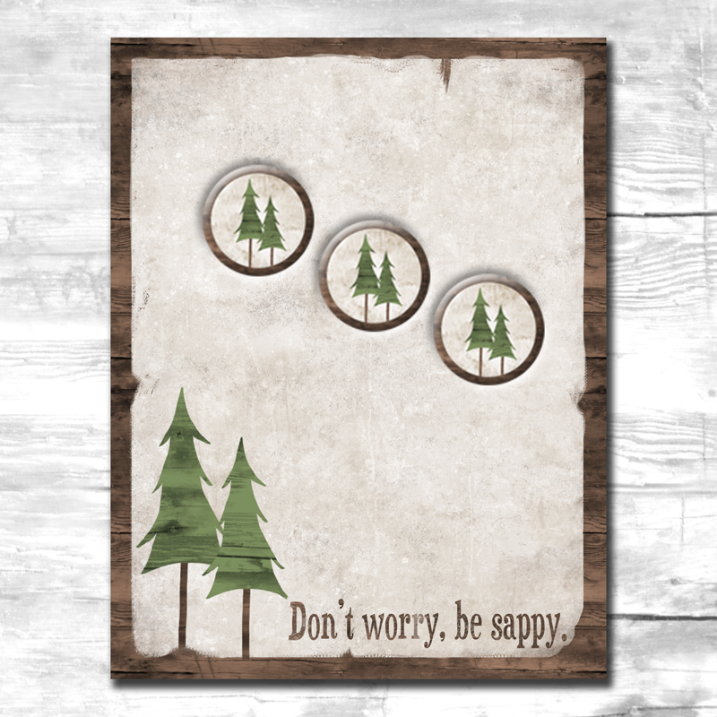 (TWBN10)  Don't Worry, Be Sappy Notepad & Magnet Set