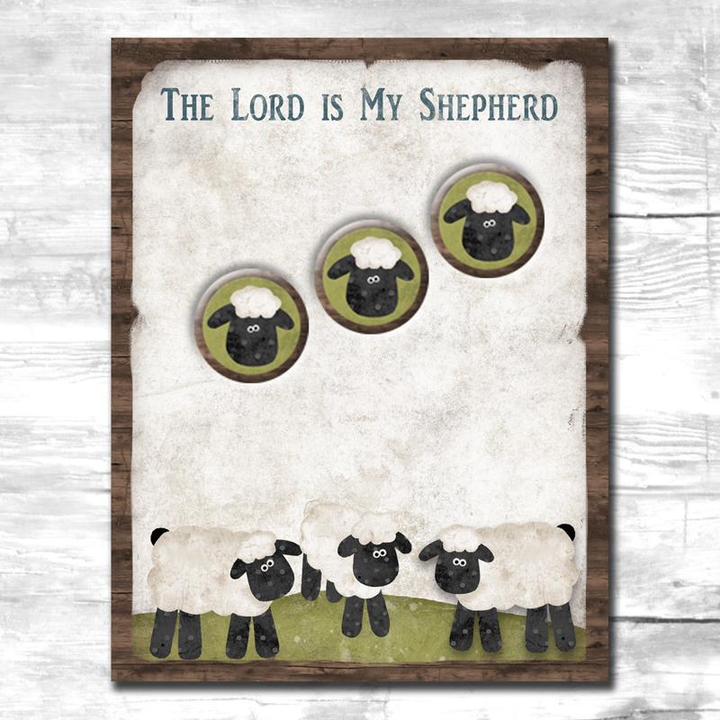 (TWBN11)   Lord Is My Shepherd Notepad & Magnet Set