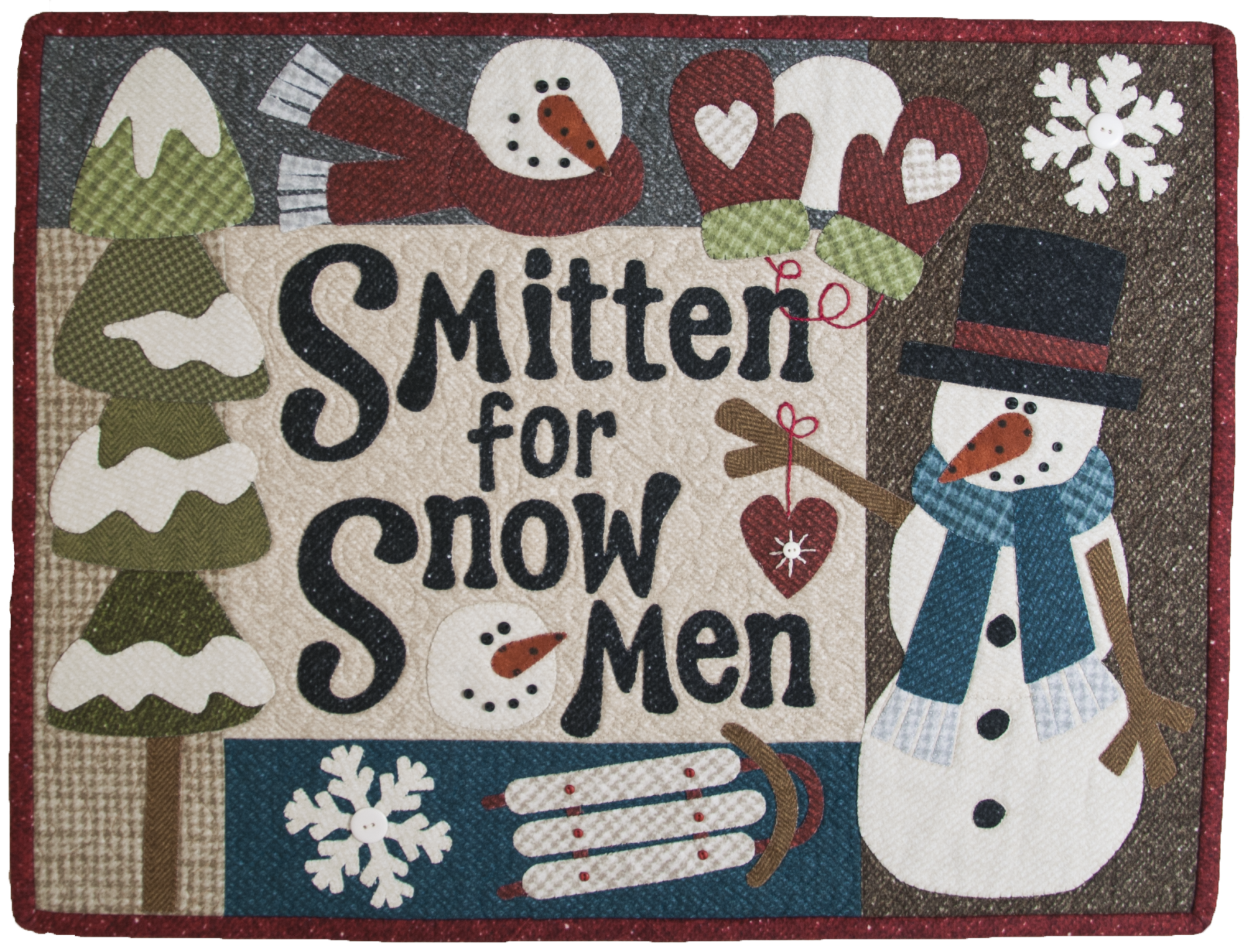 (TWBQ03)   Quilt Signs Smitten for Snowmen