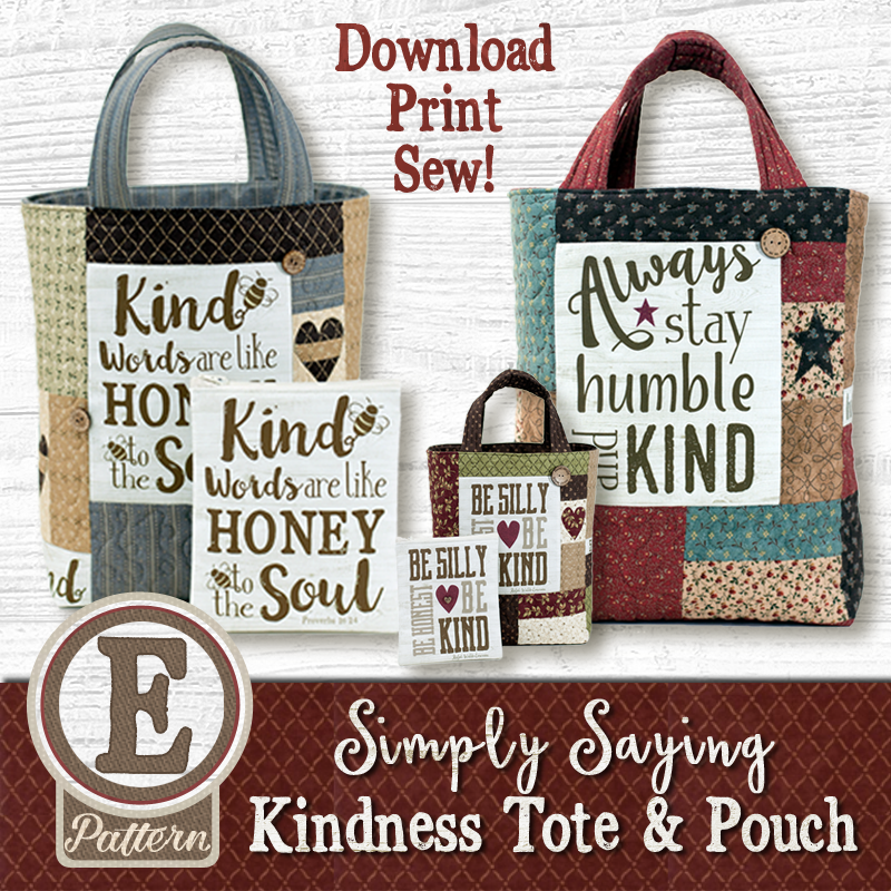 (TWB-ESS01)   E-pattern Simply Saying Kindness Tote and Pouch