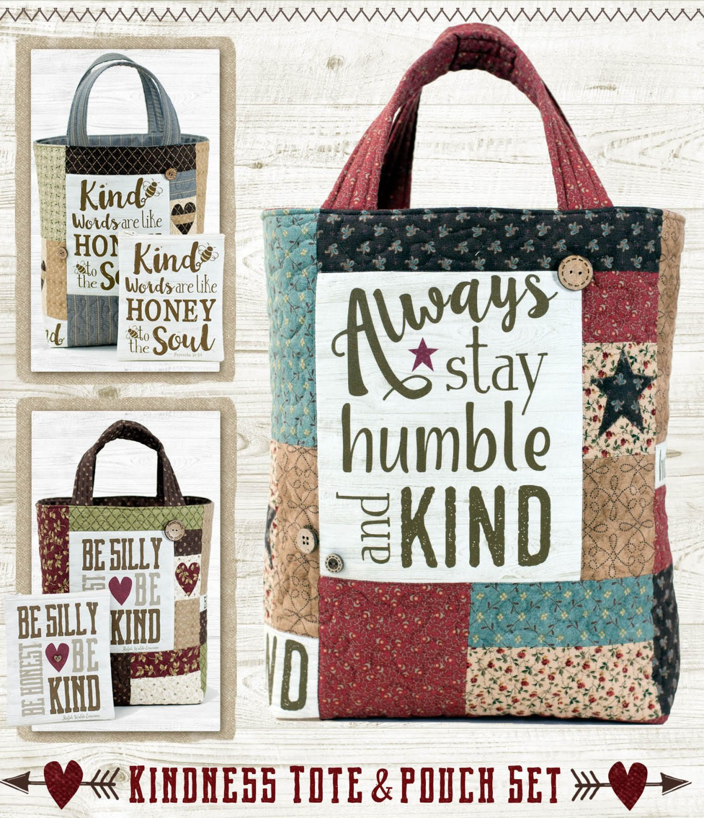 (TWBSS01)   Simply Saying Kindness Tote and Pouch Pattern
