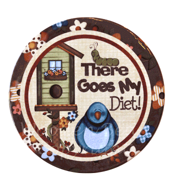 (TWBM013)   There Goes My Diet Magnet
