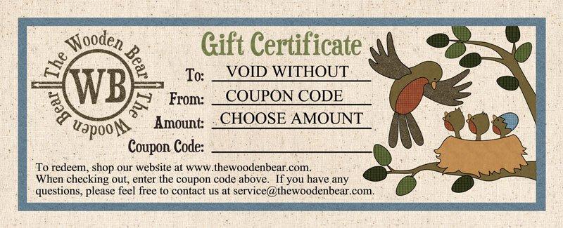 Gift Certificate Birds