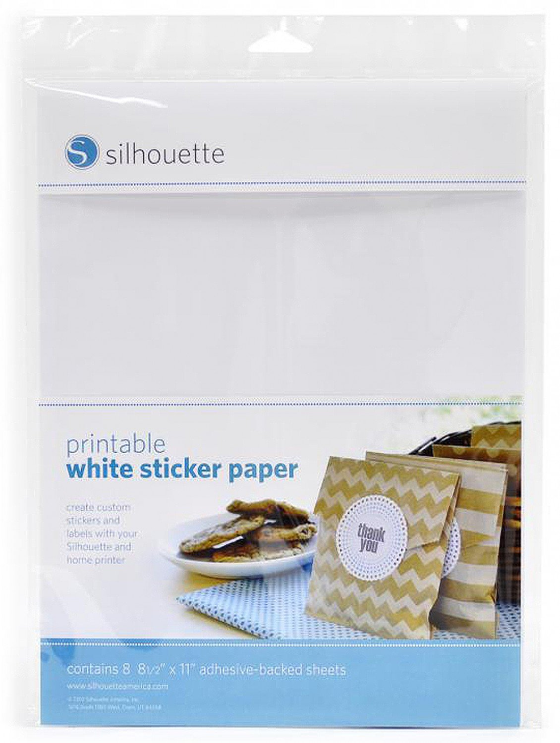 White Sticker Sheets - 8 Sheets
