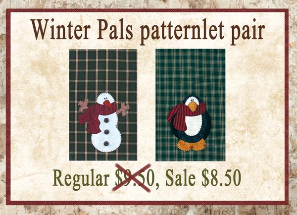 (BUNDLE-WinterPals)   Winter Pals Patternlet Pair
