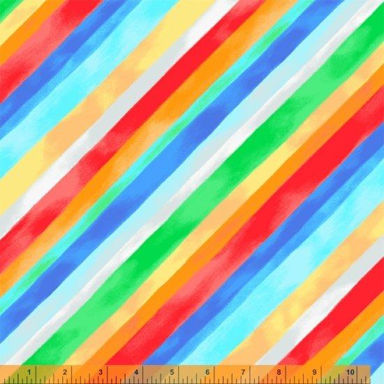 Diagonal Watercolor Stripe, 108 Wideback