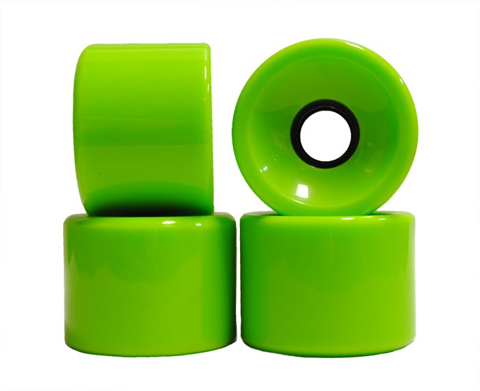 Blank Cruiser Wheels Neon Green 70mm 83a