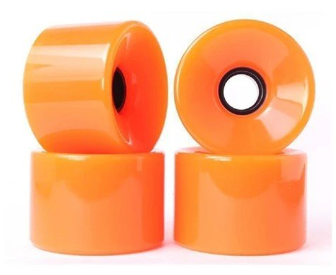 Blank Cruiser Wheels Orange 70mm 83a