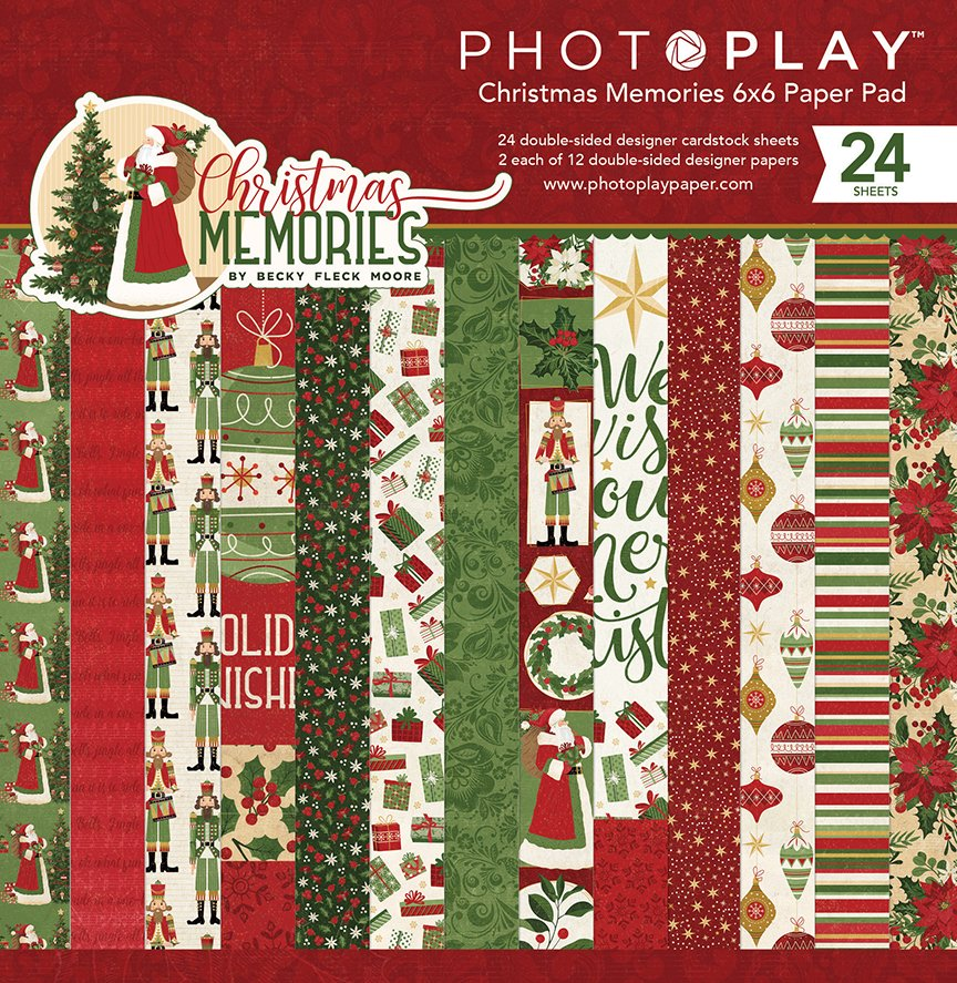 PhotoPlay Double-Sided Paper Pad 6X6 24/Pkg-Christmas Memories, 8 Designs/3 Ea...