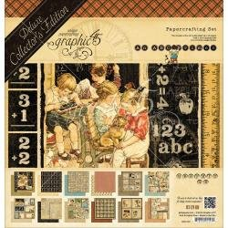 Graphic 45 Deluxe Collector's Edition Pack 12X12 ABC Primer-Discontinued*