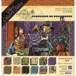 Graphic 45 Deluxe Collector's Edition Pack 12X12 Hallowe'en In Wonderland- Discontinued*