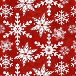 Fat Quarters - Precuts-Snowflakes, Holiday Homestead, Red