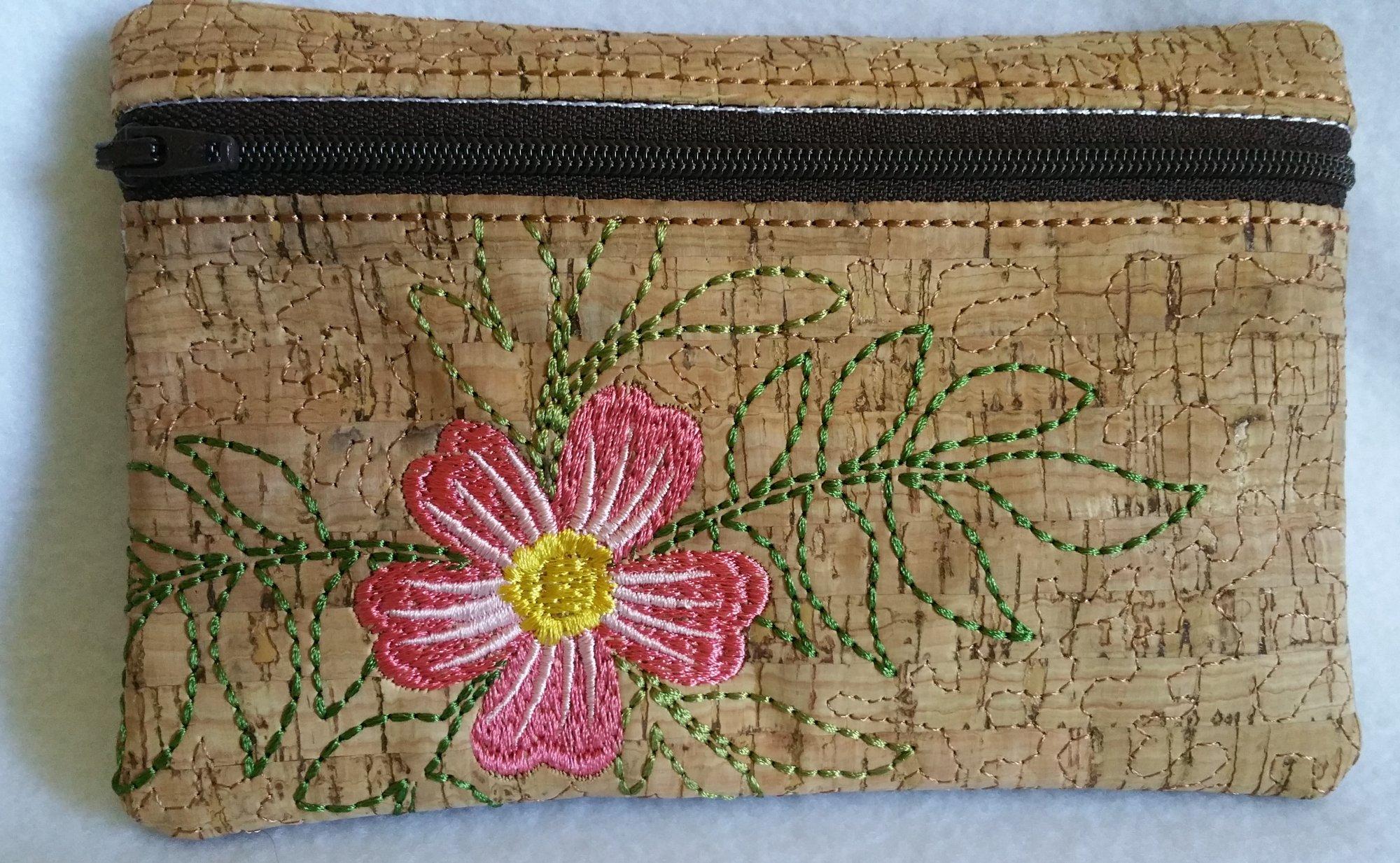 Floral Zippered Bag 1