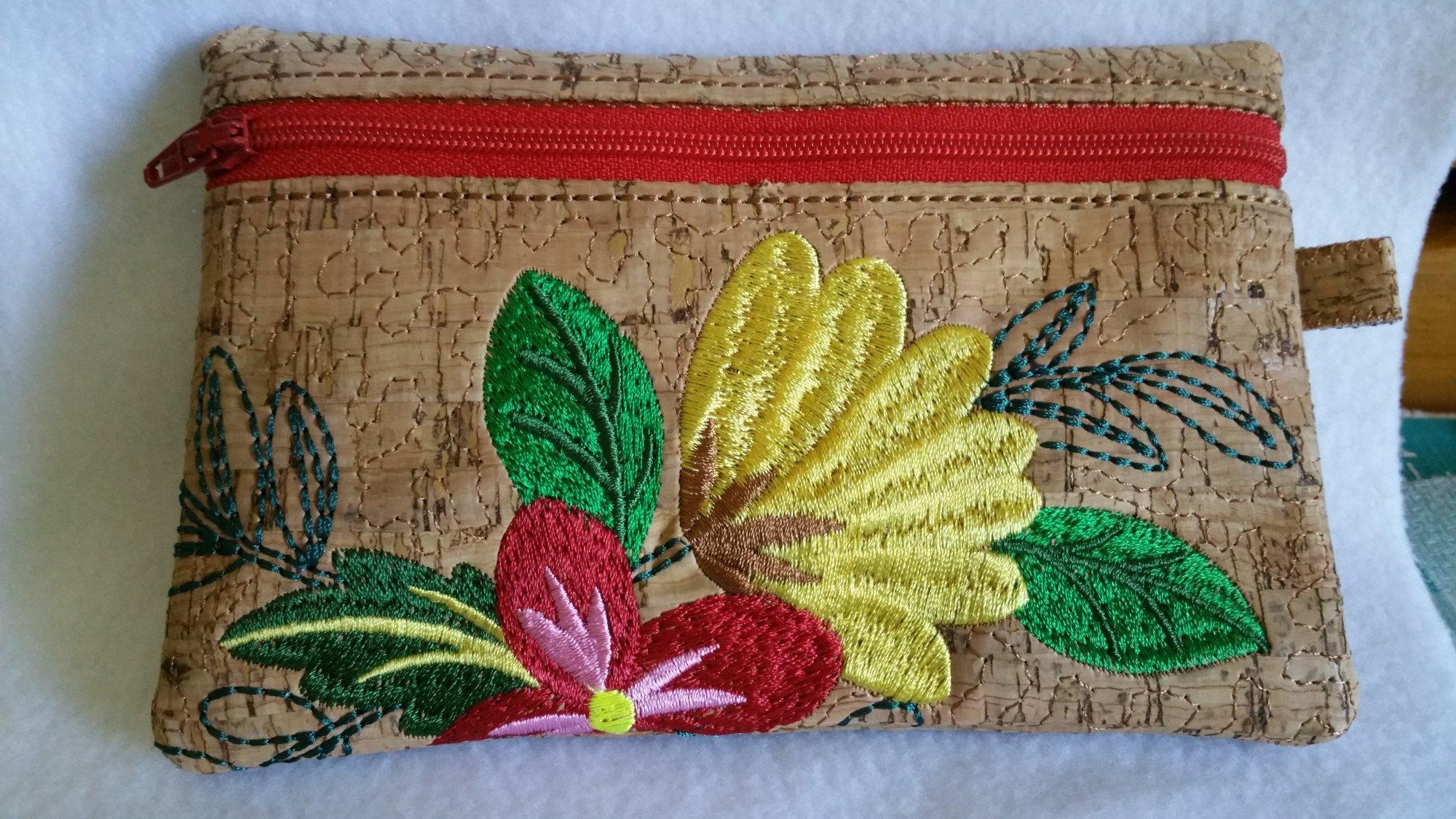 Floral Zippered Bag 4