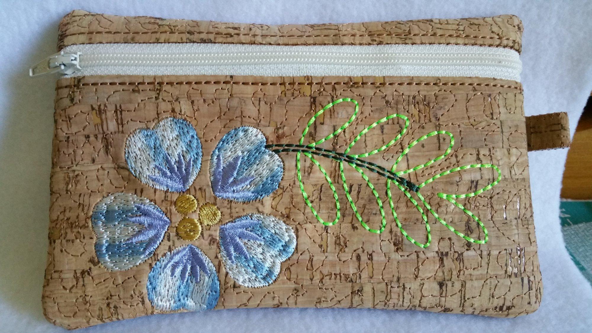 Floral Zippered Bag 6