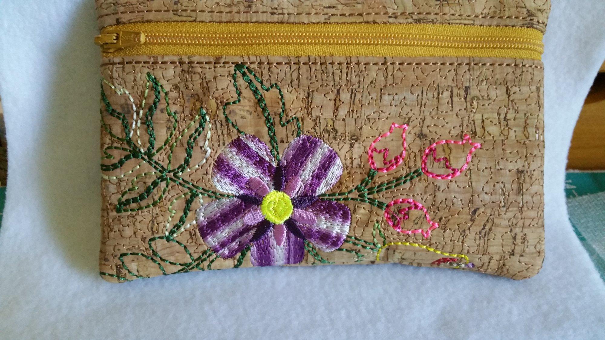 Floral Zippered Bag 7