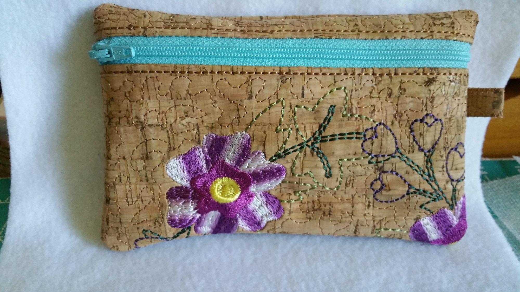 Floral Zippered Bag 9