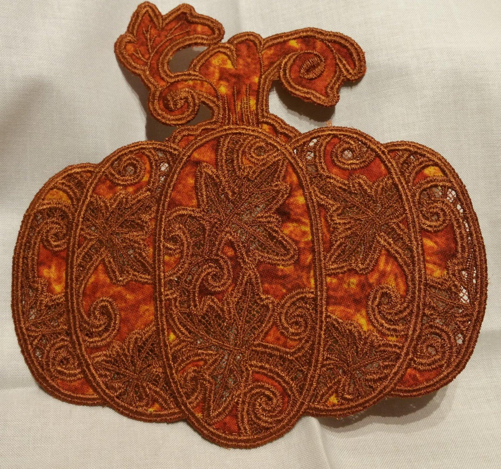 Pumpkin Doilies 2, 3 piece set