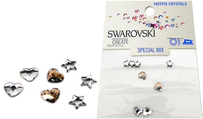 5-6 mm, 2817 MM 5,0 Fancy Shape Mix HF, Swarovski Hotfix Crystals