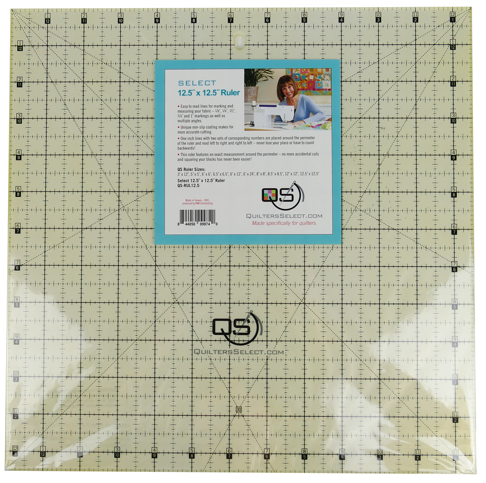 QS Select 12.5 x 12.5  Non-Slip Ruler