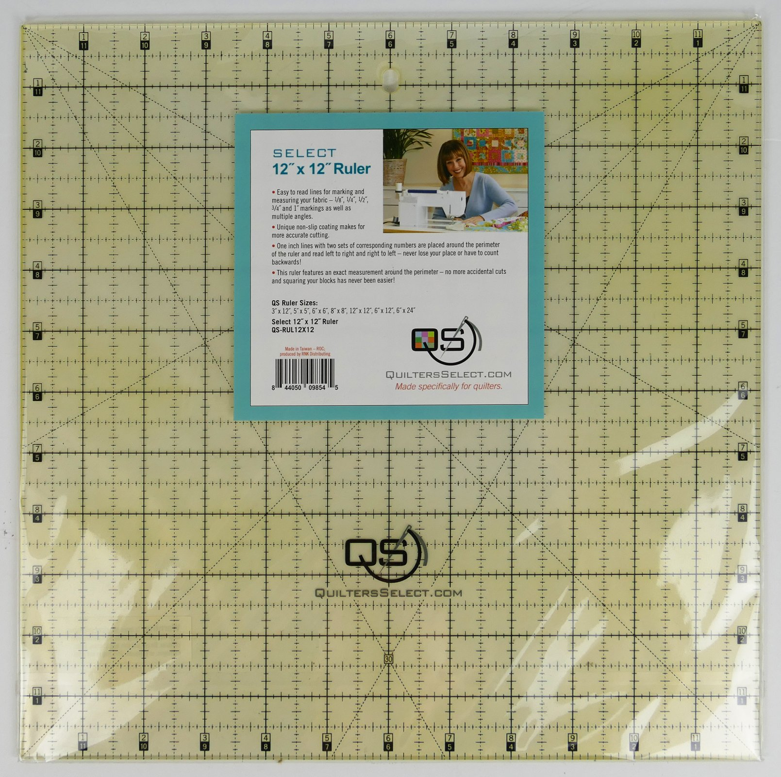 QS Select 12 x 12 Non-Slip Ruler