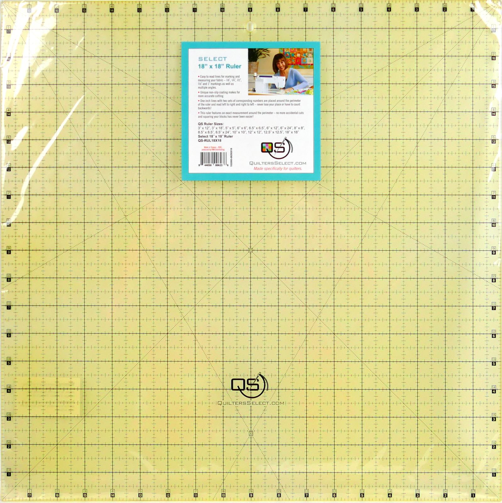 QS Select 18 x 18 Non-Slip Ruler