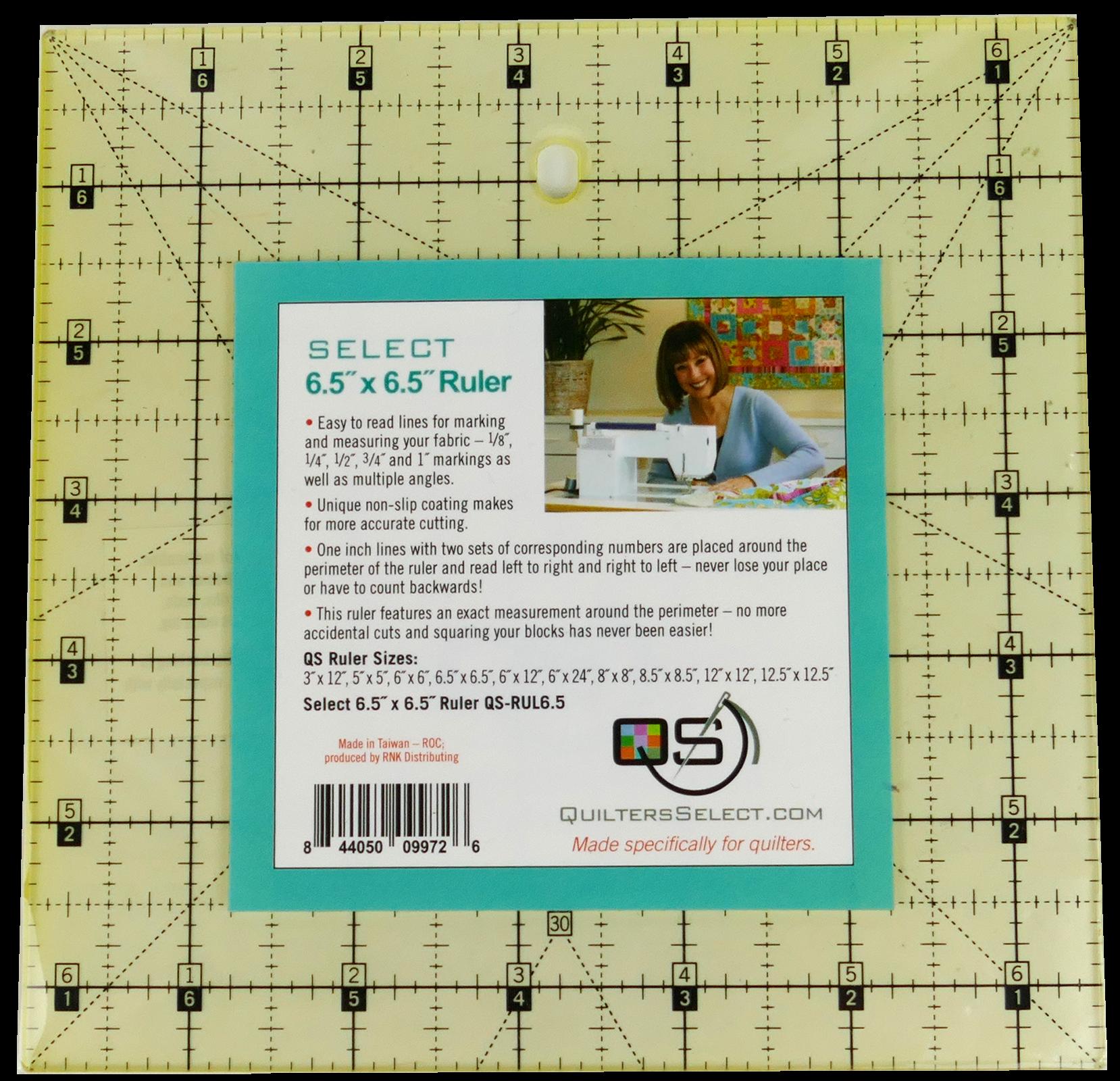 QS Select 6.5 x 6.5 Non-Slip Ruler