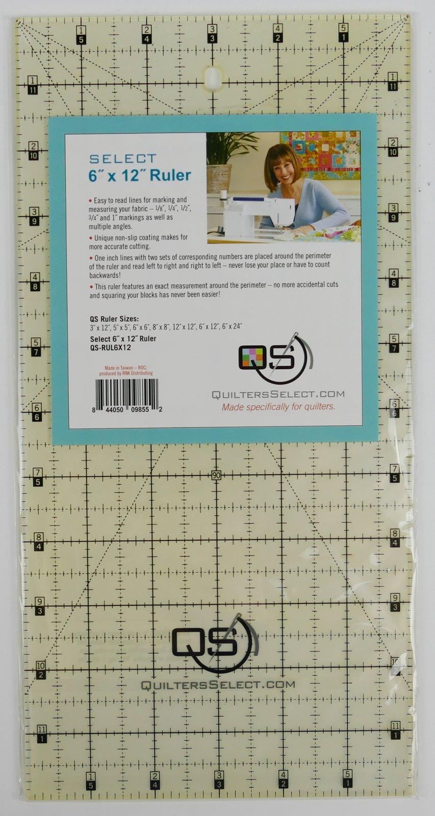 QS Select 6 x 12 Non-Slip Ruler