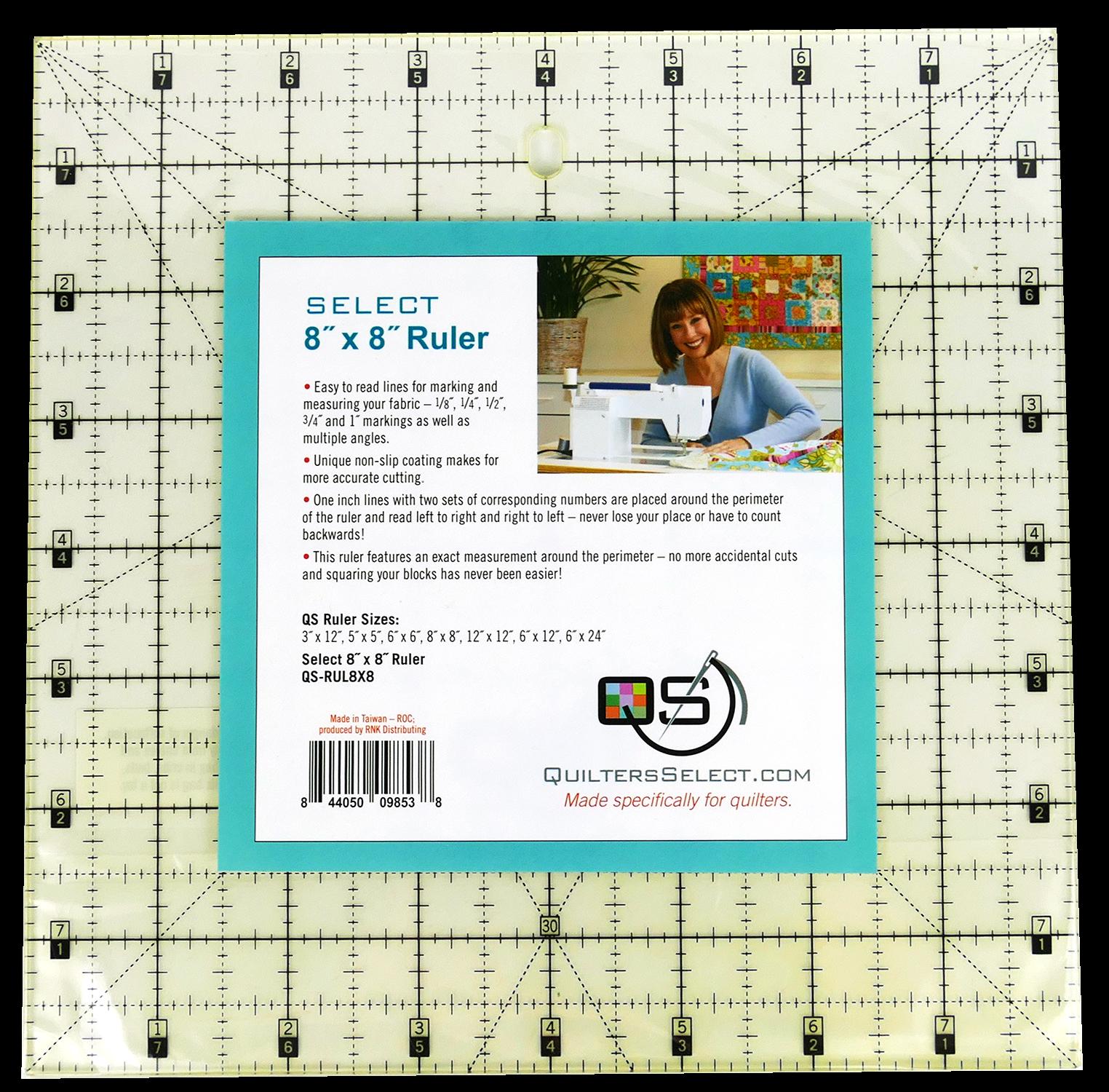 QS Select 8 x 8 Non-Slip Ruler