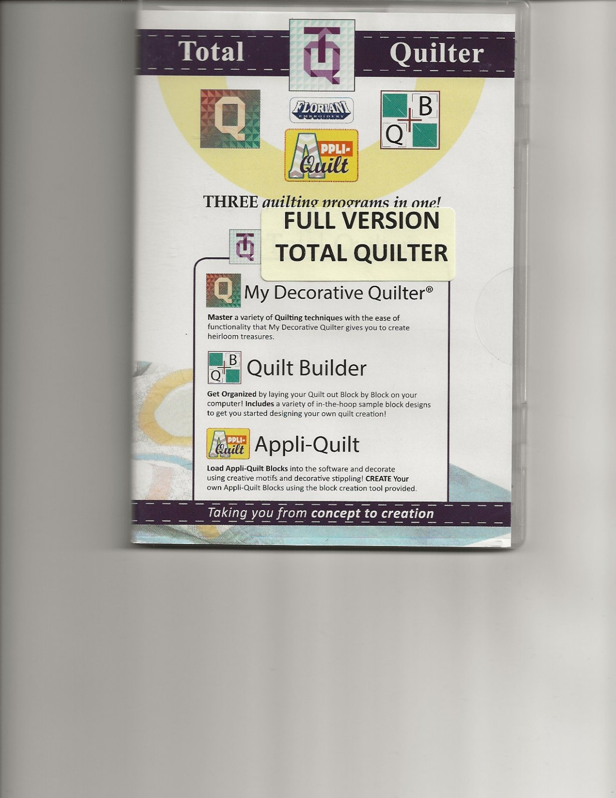 Floriani Total Quilter Software